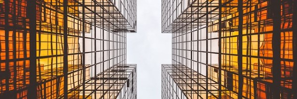 skyscraper effect looking up