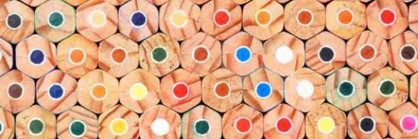 an array of pencil ends